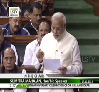 PM remarks on commitment to India's Constitution 2015
