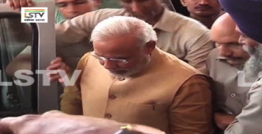 PM bows down in respect at the steps of the Parliament house upon his first arrival